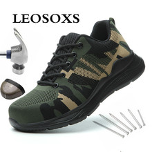 Military-Boots Safety-Shoes Anti-Smashing Steel-Toe Outdoor Breathable Indestructible