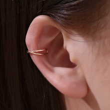 Yobest 1PCS Clip On Wrap Earring Tragus Stainless Steel 2 Rings Ear Cuff Clip Earring Fake Piercing Jewelry Pendientes Mujer