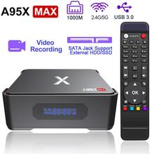 Enregistrement vidéo Android TV Box A95X MAX X2 4GB 64GB Amlogic S905X2 2.4G & 5G Wifi BT 4.2 1000M 4K HD Smart TV boîtier décodeur