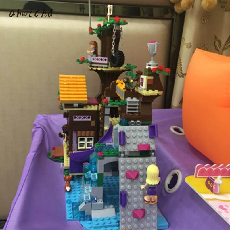 10497 739pcs Legoinglys Friends Adventure Camp Tree House Stephanie Emma Joy Girls 3 Figures Building Block Bricks Toy