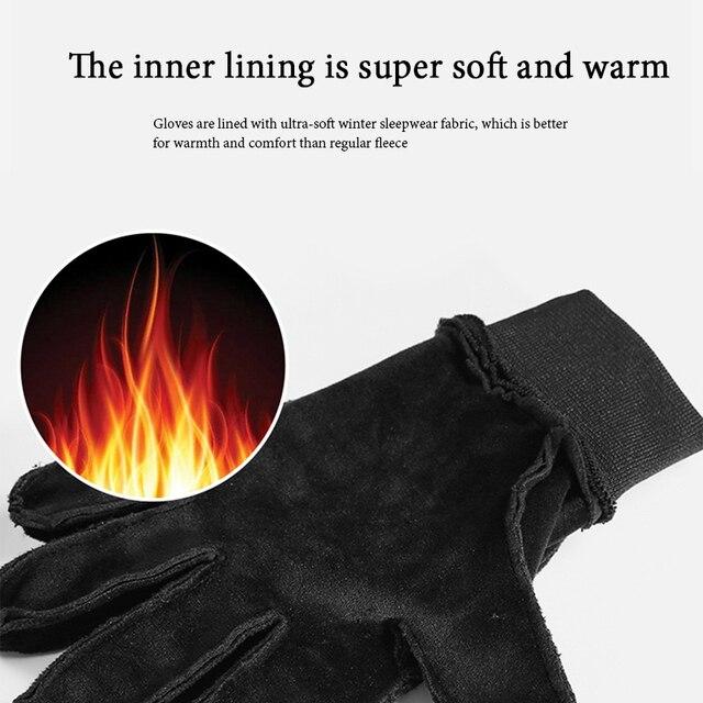 Inverno das mulheres dos homens luvas de ciclismo dedo cheio tela sensível ao toque antiderrapante impermeável à prova vento quente velo térmico bicicleta luvas 2