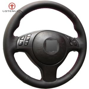 Image 5 - LQTENLEO Black Artificial Leather DIY Car Steering Wheel Cover for BMW M Sport E46 330i 330Ci E39 540i 525i 530i M3 M5 2000 2006