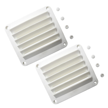2x New White ABS Louvered Plastic Vent 5-1/2 x 4-7/8inch for Boat