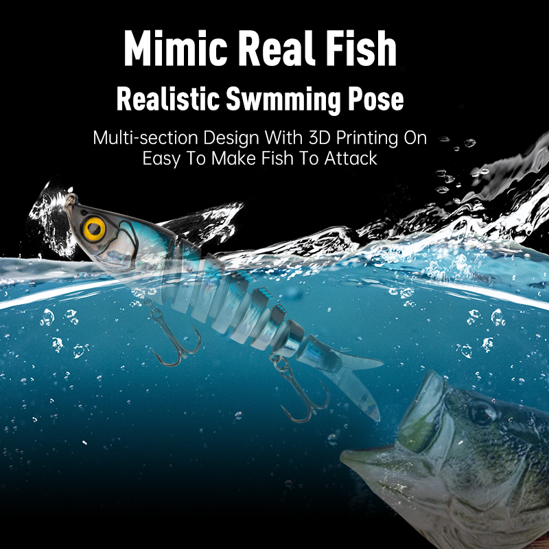New Barbecue-L Multi Jointed  Fishing Lures for Bass and Pike 2