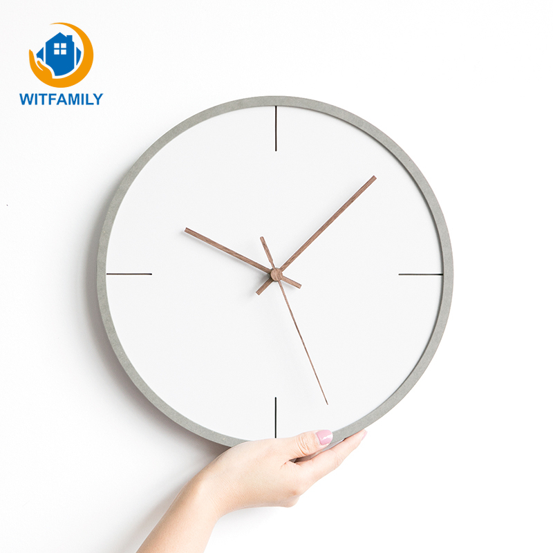 Creative Fashion Nordic Wall Clocks Bedroom Personality Mute Hanging Clock Living Room Home Modern Minimalist Watches