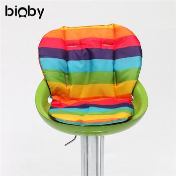Dla dzieci dla dzieci foteliki poduszka Mat wysokiej poduszka na krzesło Pad Mat krzesełko do karmienia poduszka mata wózek poduszki mata tanie i dobre opinie bioby 1-8 lat Other W paski