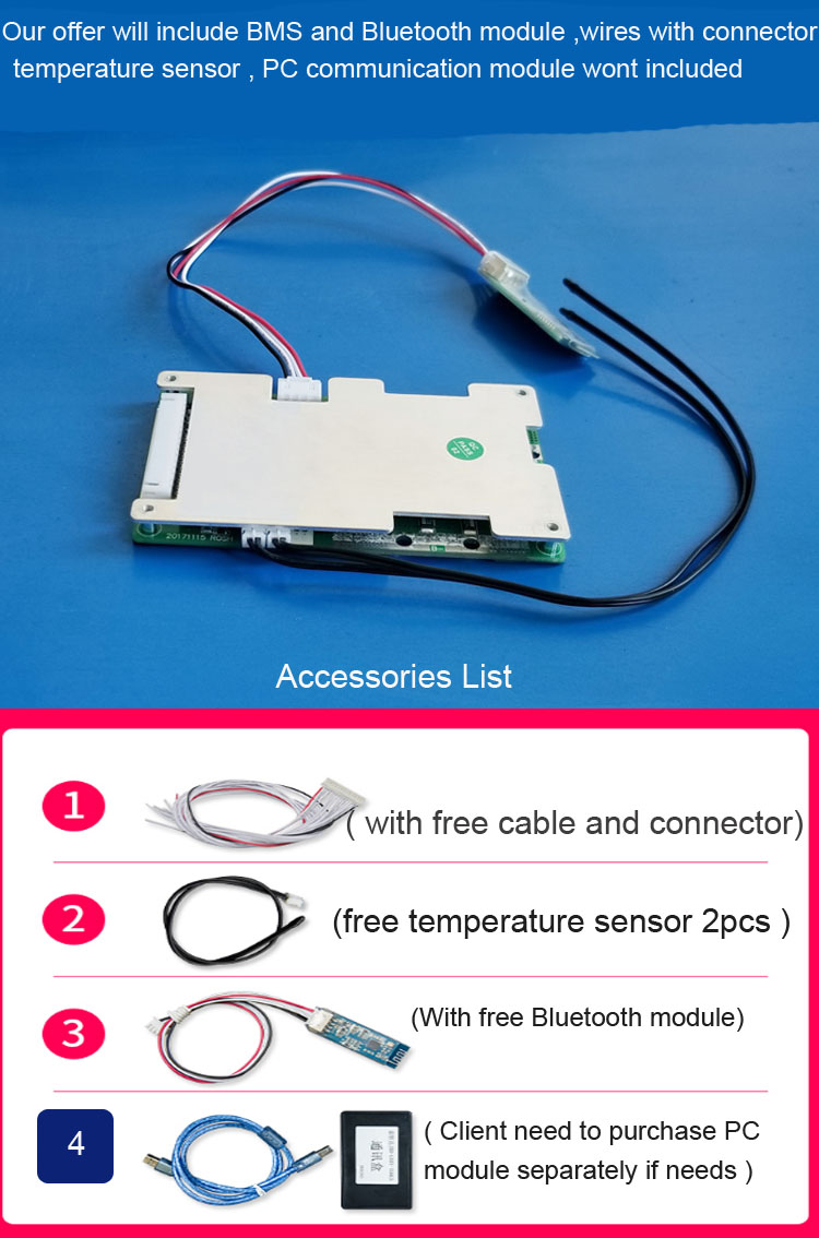 H01045a2df2564174a8cdc13acb3c71c2W - 10S 36V Lithium Battery PCB and smart BMS with Bluetooth Function APP software 42V electric bike intelligent Protection circuit