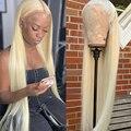 Парик на сетке спереди, 613, медово-светлые парики на сетке спереди для черных женщин, бразильские парики из T-образных волос, прямые парики из ...