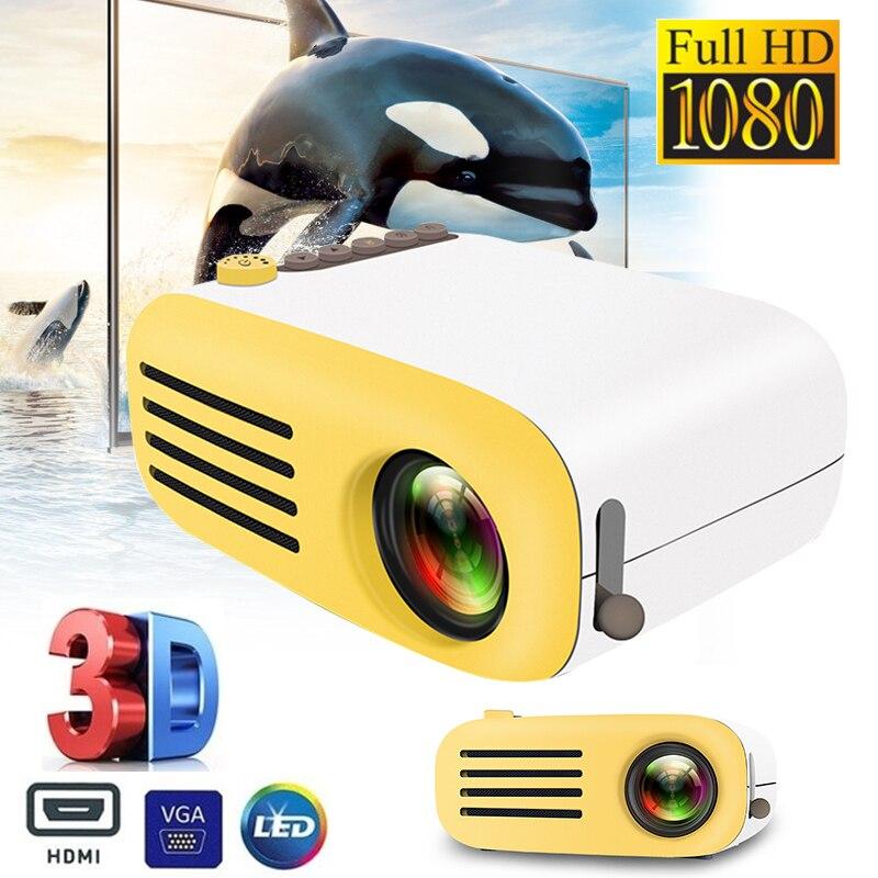 YG200 Mini projecteur de poche Portable LED Mini projecteur Portable HD projecteur USB/AV/HDMI/TF jeu vidéo cinéma maison projet vidéo