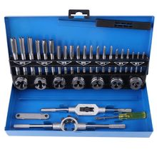 32Pcs/Set Tap Die Set Adjustable Metric Taps Dies Wrench Set Screw Thread Straight Taper Hand Tools Set