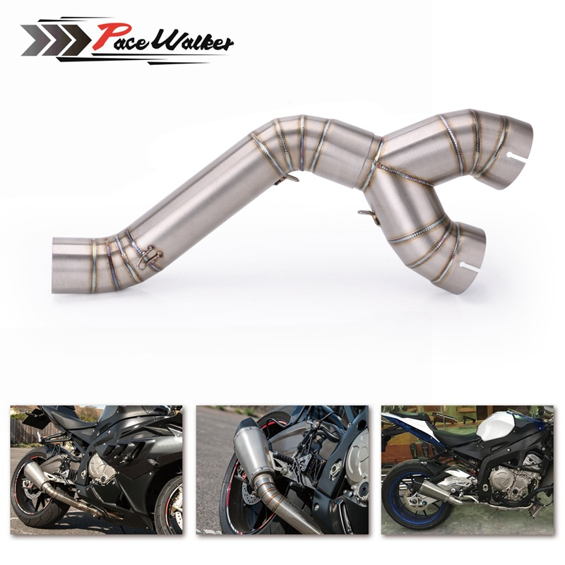 BMW S1000RR <font><b>S1000R</b></font> Modified <font><b>Exhaust</b></font> Pipe Motorcycle Stainless Steel Midpiece <font><b>Exhaust</b></font> Pipe 09-18 Years image