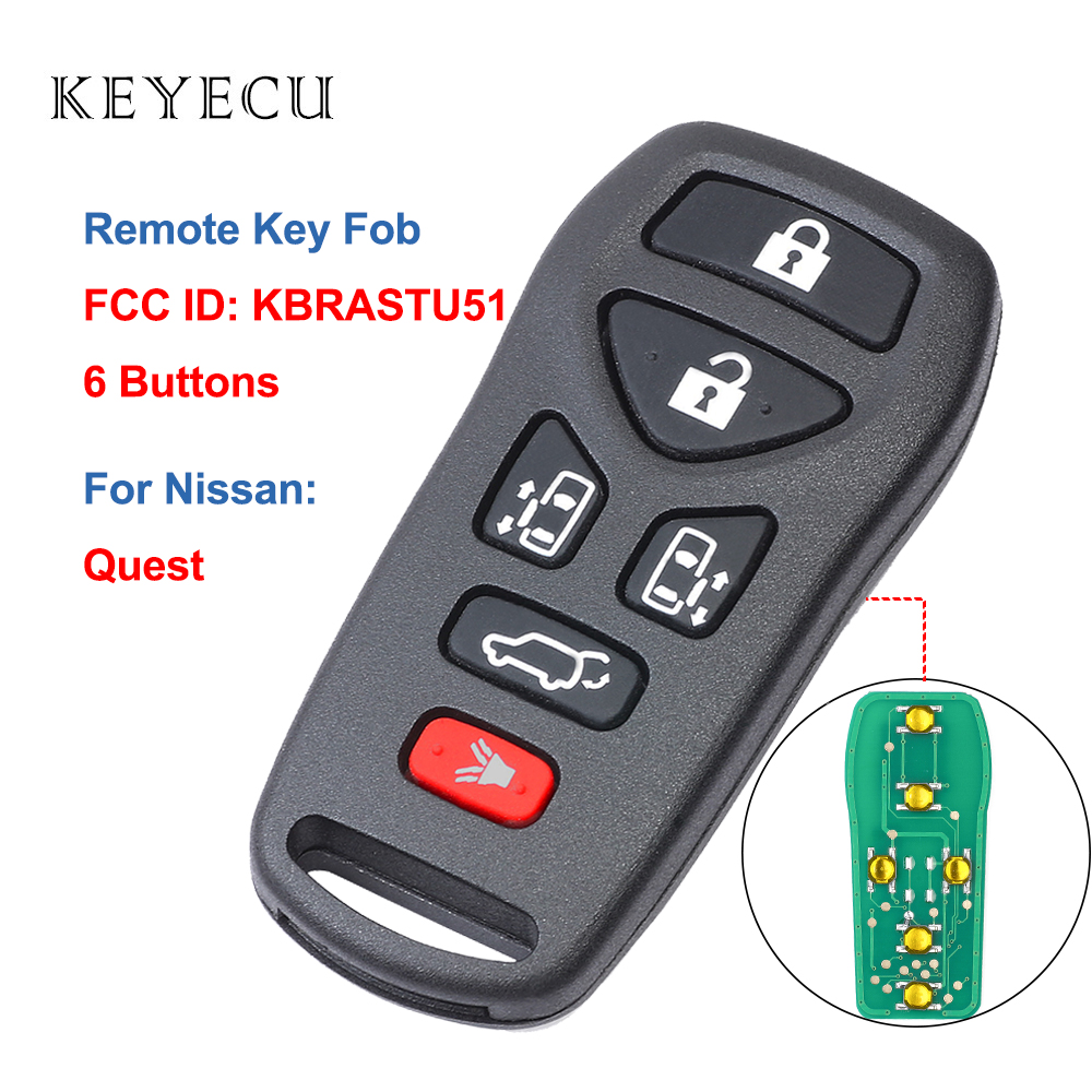 2 Car Key Fob Keyless Remote Red For 2004 2005 2006 2007 2008 2009 Nissan Quest