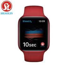 SHAOLIN Original Smart Uhr Serie 6 für Frauen Männer Bluetooth SmartWatch für Apple Uhr iOS iPhone Android Telefon (Rot taste)