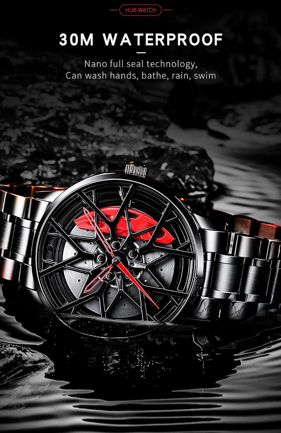 H0104e937e11149fba2b7eba59711ef0bP NIBOSI 2020 Car Rim Hub Wheel Watch Custom Design
