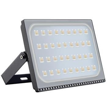 New 200W 220V LED Floodlight SMD Outdoor Lamp 6th Generation Ultra-thin Floodlight Warm White For Hotels Streets Factories, Etc