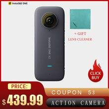 Insta360 1 X2パノラマビデオアクションカメラの液晶タッチスクリーン防水サポート弾丸時間flowstate安定化360カメラ