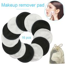 16Pcs Makeup Removal Cotton Pad Washable Reusable Facial Cleansing For Face Eyes Cosmetics Cleaning Tool Very Soft