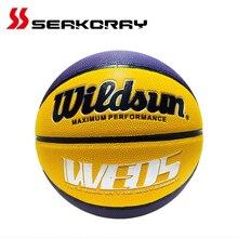 Basketball Ball 7# PU Leather Official Size7 Outdoor Indoor Match Training Men Women Basketball (Ball needle + ball net)