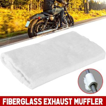 Silenciador de escape Universal para motocicleta, tela de embalaje de fibra, silenciador de fibra de vidrio para motocicleta, tela de embalaje para Moto, tubo silenciador de algodón