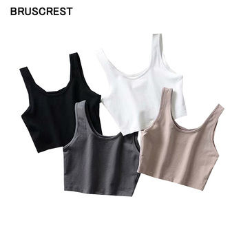 Summer vintage basic black white crop top women workout tank top sleeveless sexy top women underwear cropped feminino