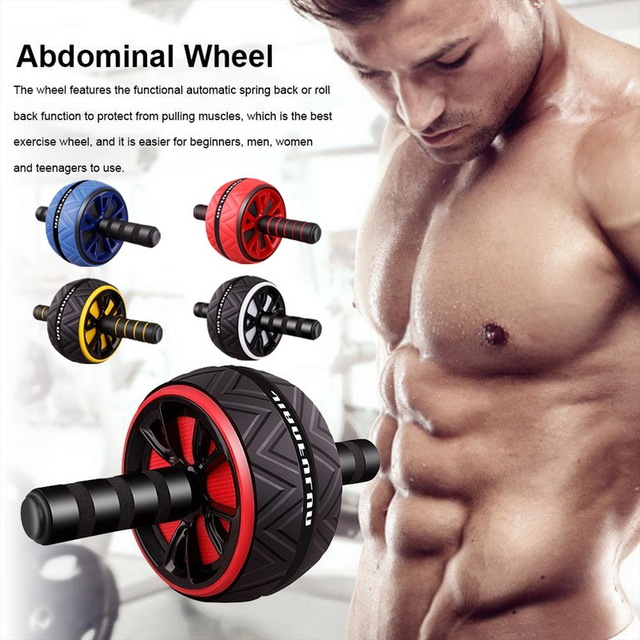 Single Wheel Abdominal Power Wheel  Roller Gym Roller Trainer Training Gym Home Fitness Tools Muscle Exercise Equipment 2020 2