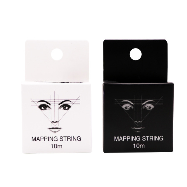 Mapping Staing Thread Microblading Pre-ink Eyebrow Permanent Positioning Eyebrow Marking Line Tattoo Accessories Measuring Tool
