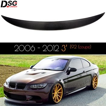 For BMW 3 Series E92 Coupe E92 M3 Carbon Fiber Rear Trunk Spoiler 2006 - 2012 image