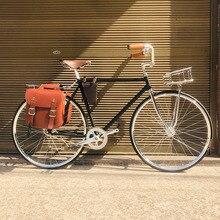 Bicicleta de carretera vintage 700C, bicicleta Retro plateada con cesta plateada, pista de marcha única, marco de bicicleta 52cm con marco de bicicleta lug fixie