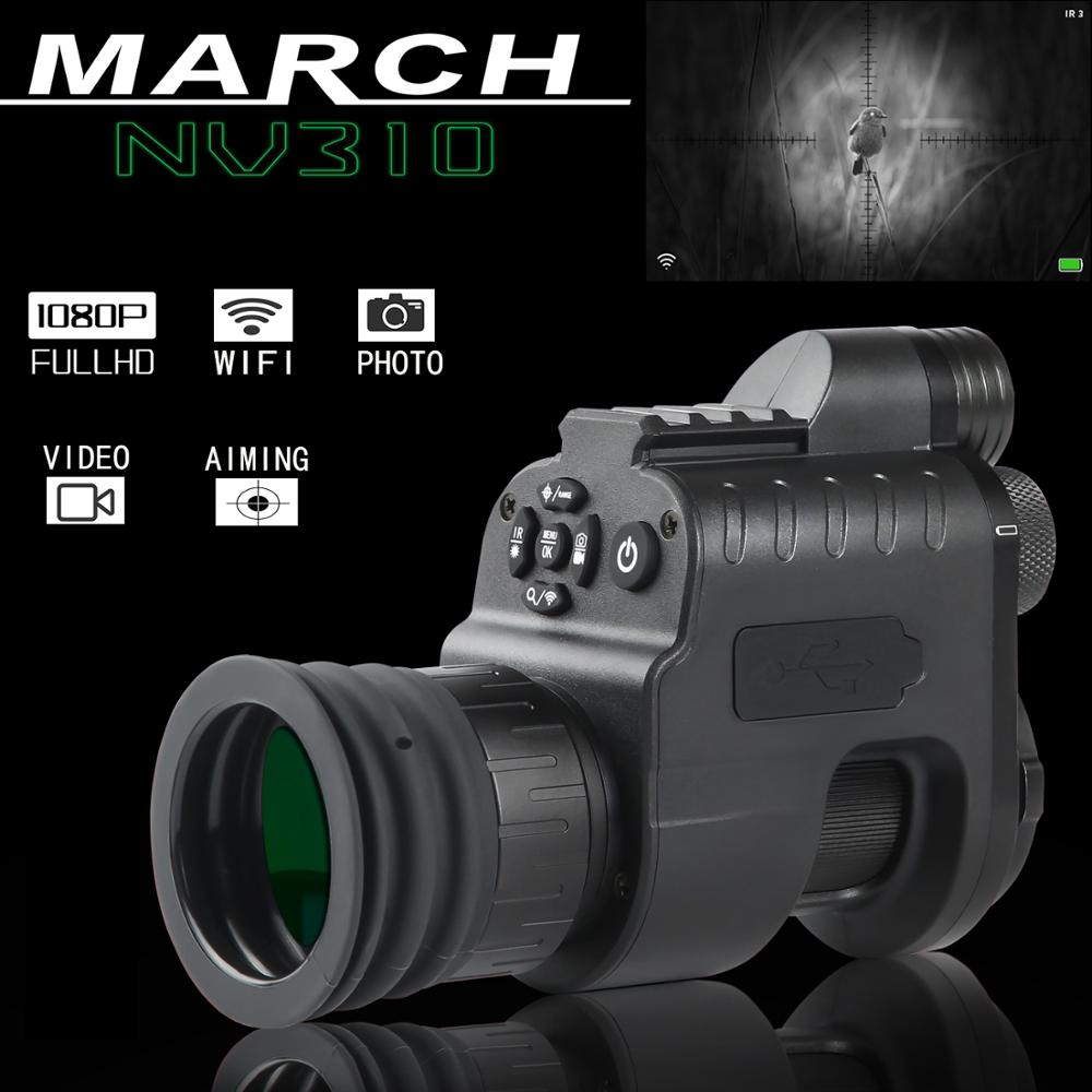 MARCH NV310 Digital hunter WiFi night vision device Night Vision Scope Hunting Camera infrared Night Vision Optics night sight