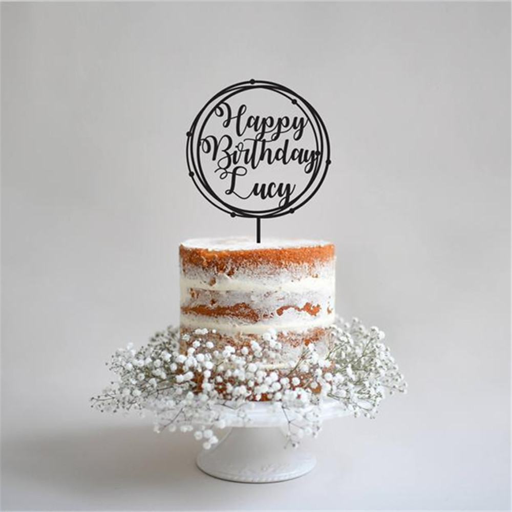Personalised Custom Happy Birthday Mum Heart Glitter Cake Topper Party Any Name Home Garden Patterer Kitchen Dining Bar