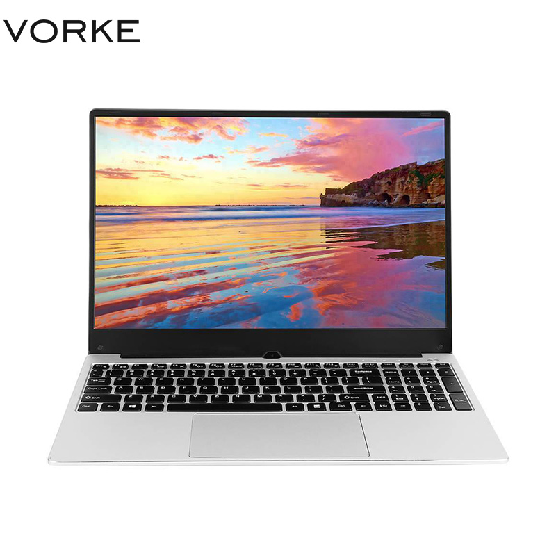 In Stock VORKE Notebook 15 Laptop Intel Core I5-8250U Full Metal Body 15.6'' IPS 1920*1080 Windows 10 8GB DDR4 256GB SSD Laptop