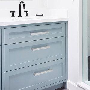 Image 4 - Probrico Matte Black Cabinet knobs and handles Rose gold Cupboard Wardrobe Drawer Closet Pulls Minimalist Furniture Handle Pulls