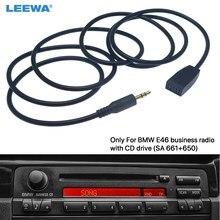 Leewa 3.5mm macho jack aux adaptador de cabo de entrada apenas para bmw e46 com unidade central de rádio cd negócio # ca6254
