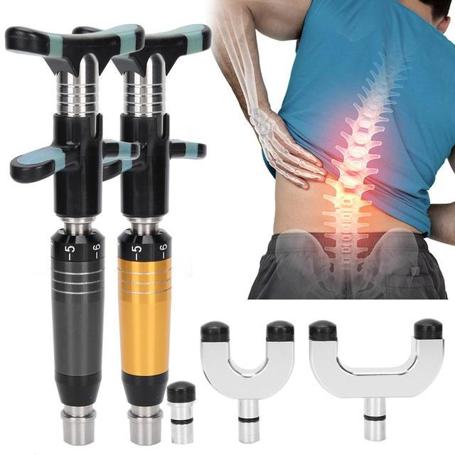 6 Levels Adjustable Manual Bone Correction Therapy Instrument Stimulator Stainless Steel Spine Chropractic Massager Health Care