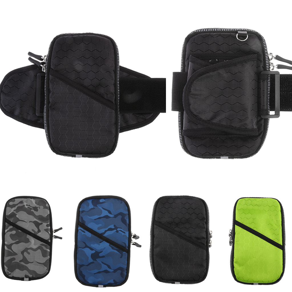 Sports Armband, Multifunctional Pockets Workout Running Arm Bag Wrist Bag Fit For Up To 6-inch Cell Phone