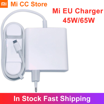 Original Xiaomi Charger 65W Type C Output EU Laptop Charger QC 4.0 Adapter USB C Port Mi 45W Charger For Redmi Note 9s Redmi 9