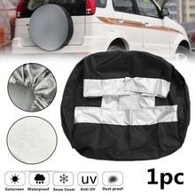 1 Pc Universal SUV Tire Cover Case Auto UV-proof Dust-Proof Waterproof Oxford Cloth Spare Tire Cover Case For Car Accessories dust proof cover case for legend of the blue sea 13844 diy dollhouse 22 21 1cm acrylic