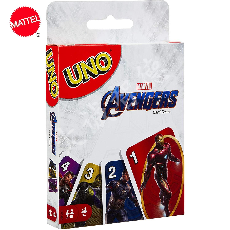 Mattel UNO: The Avengers развлечение настольная игра Fun покерные игральные карты, Подарочная коробка, Uno Card Game