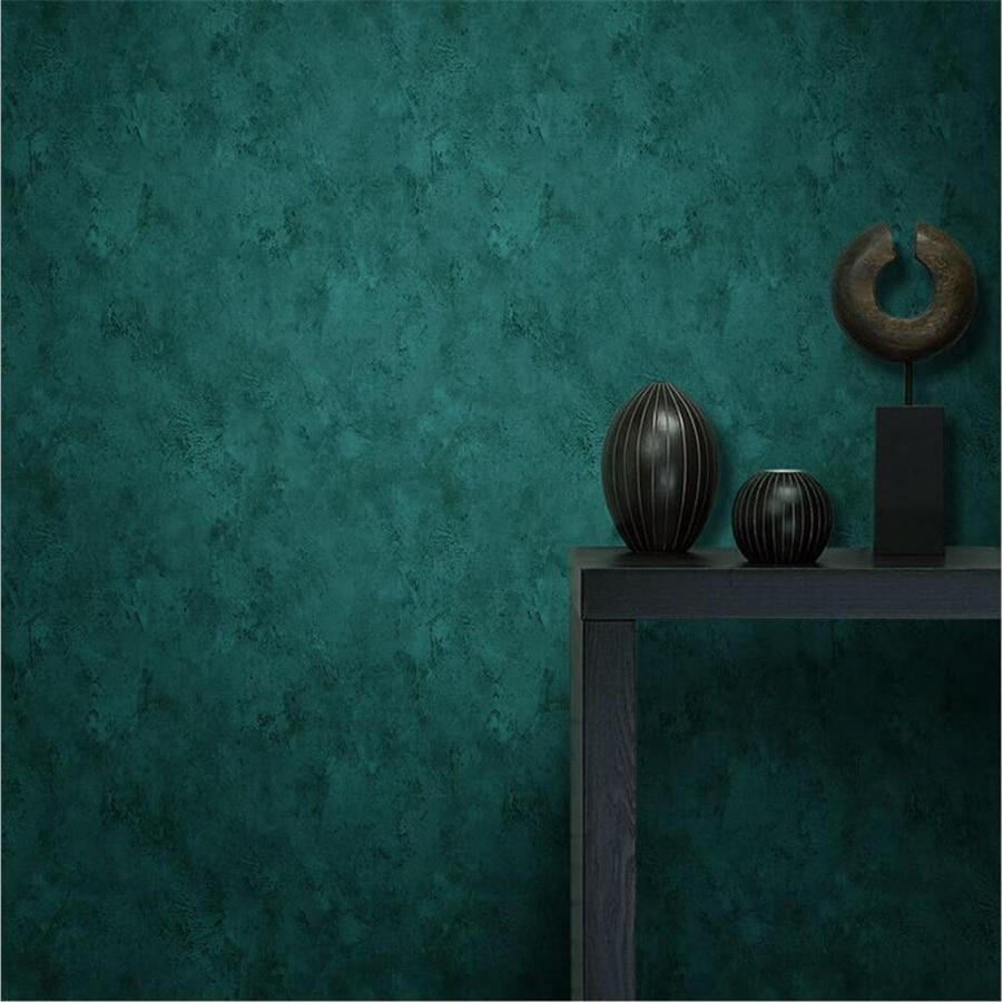 Beibehang Peacock Green Wallpaper Mottled Emerald Pure Pigment Retro American European Style Wallpaper Bedroom Living Room Oboi 3d Wallpaper Non Woven Wallpaperwallpaper American Aliexpress