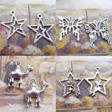 BANMAR 10pcs Charms star butterfly camel angel silver plated Pendant For Jewelry Making L19