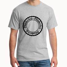 Custom Circle Round Stamp Bavaria Germany German Oktoberf tee shirt s-18xl fitted shirt Unisex gents t-shirts(China)