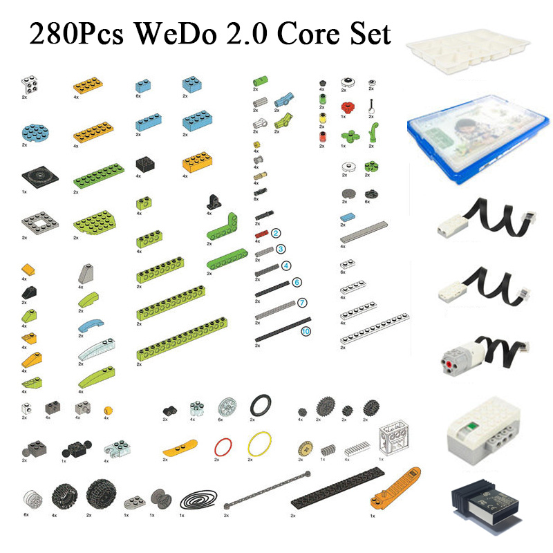 280Pcs/Lot Educational Functions DIY Parts Compatible LEGOes 45300 WeDo 2.0 Core Set Building Blocks DIY Toys Christmas Gifts
