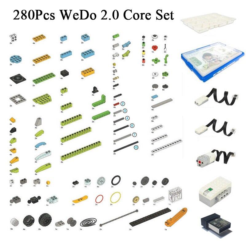 280Pcs/Lot Educational Functions DIY Parts Compatible LOGOes 45300 WeDo 2.0 Core Set Building Blocks DIY Toys Christmas Gifts
