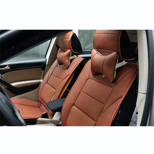 Akcesoria samochodowe wnętrze fotelik do samochodu wsparcie skóra PVC oddychająca siatka poduszka zagłówek poduszka pod kark opieki zdrowotnej zagłówek samochodowy