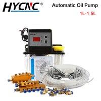 Bomba de aceite lubricante automática, engranaje electromagnético Digital, engrasador, herramienta de máquina de grabado CNC, 1L, 1,5 l