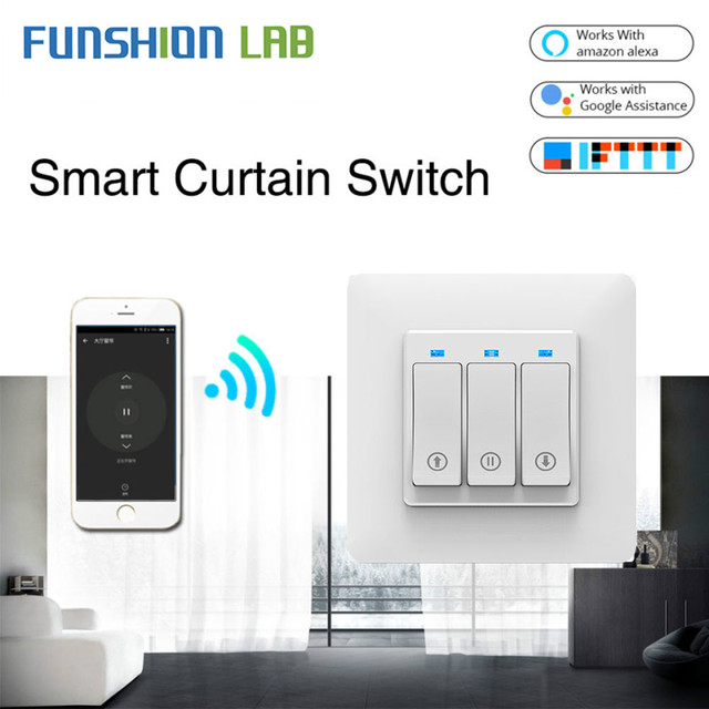 Persiana enrollable inteligente con WiFi, cortina de botones con Control remoto, motorizada, Tuya, Alexa y Google Home