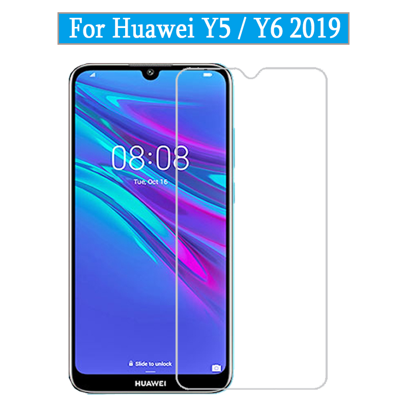 9H Tempered Glass For Huawei Y5 Y6 2019 Screen Protector On Huawey Huawai Huavei Y5 Y6 2019 Y 5 6 Protective Glass Film
