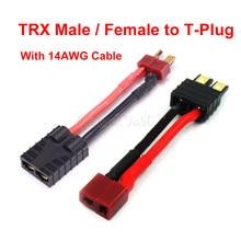 Adaptateur T Deans femelle/mâle vers TRX mâle femelle, 1 pièce, connecteur pour batterie de voiture RC