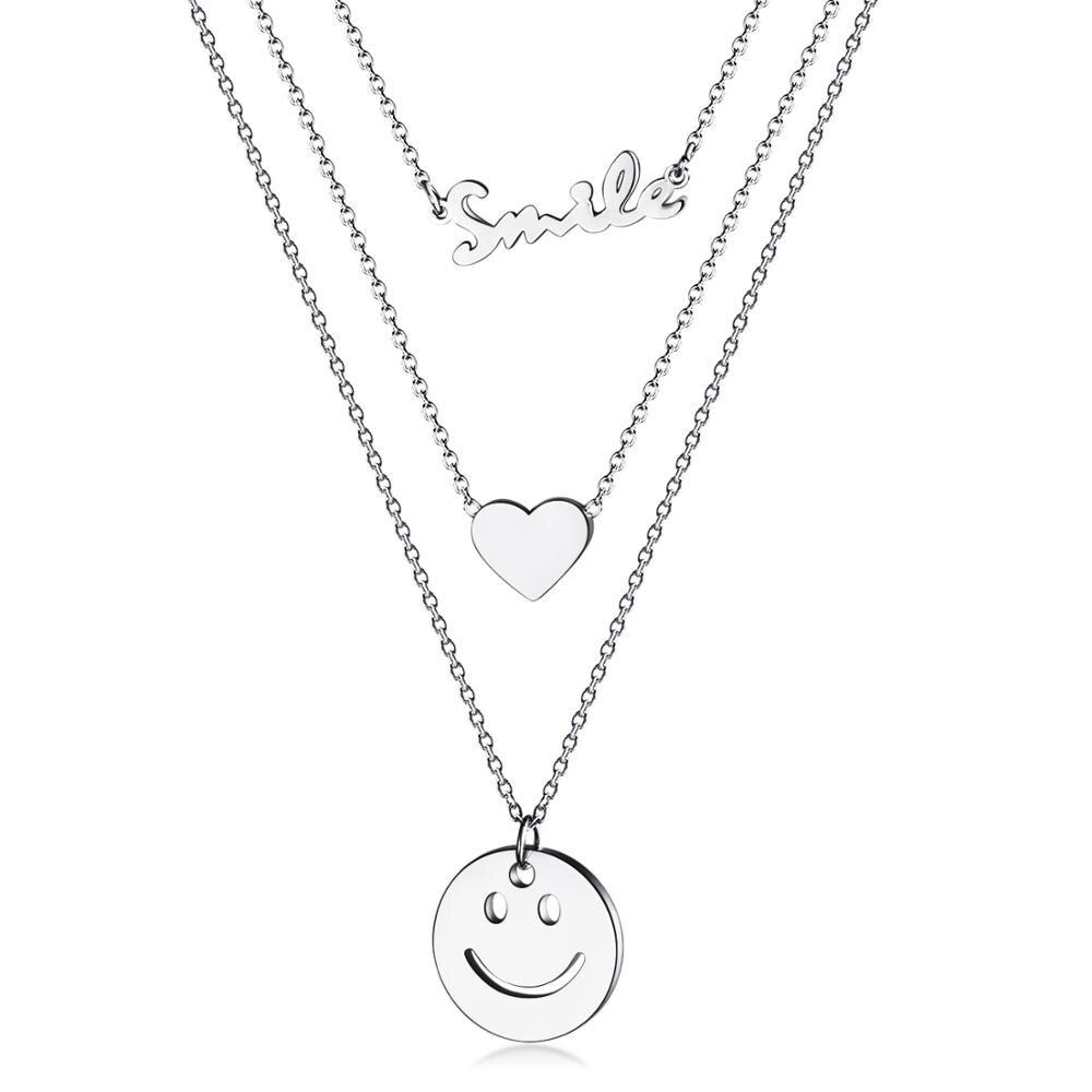 BU-147 en argent sterling 2 coeur colliers pour femmes 2019 nouveau personnalisé pierre de naissance et gravure nom bijoux cadeaux