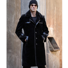 SANI Long Fur Sheepskin Jacket Real Fur Winter Thicken Warm Fur Clothing Black Long Fur Overcoat Men Navy Real Fur Coat куртка кожаная aliance fur aliance fur mp002xw13q6k